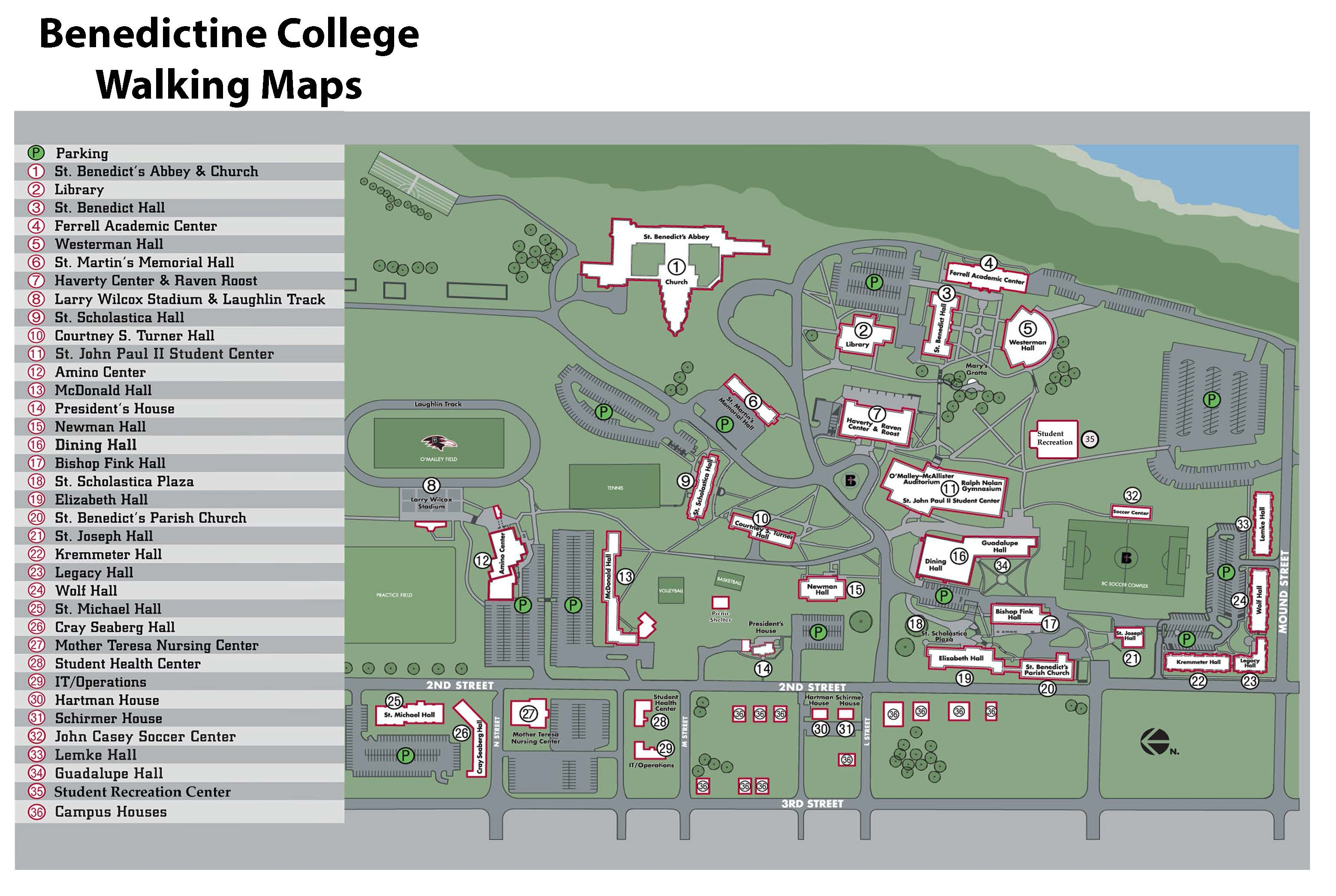 Jackson College Campus Map.Walking Tours Maps Visit Atchison