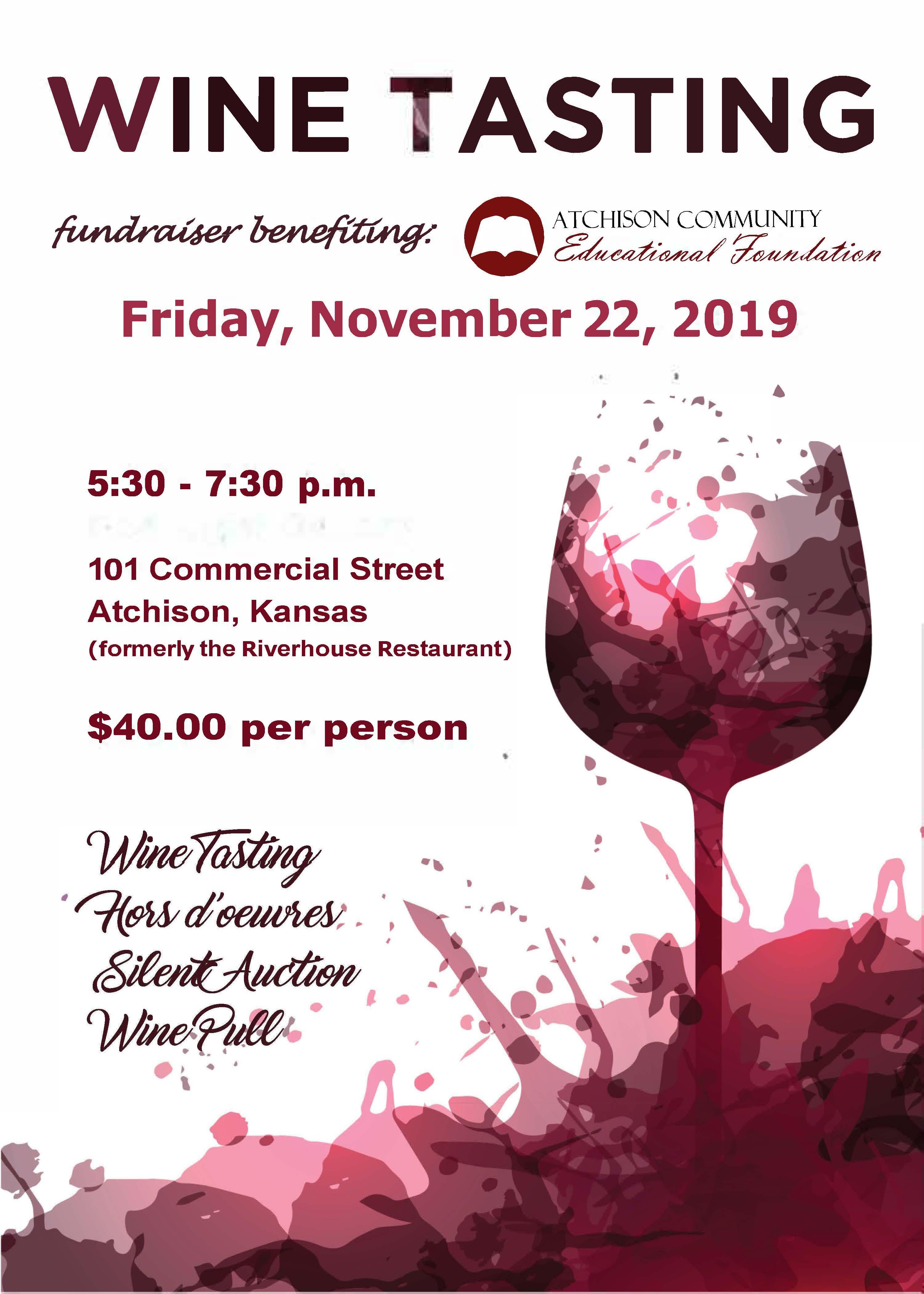 ACEF Wine Tasting Flyer 2019